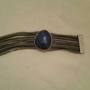 Jewelry - blue stone magnetic closure bracelet